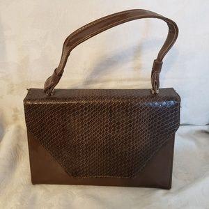 Vintage Brown Leather Purse Bag